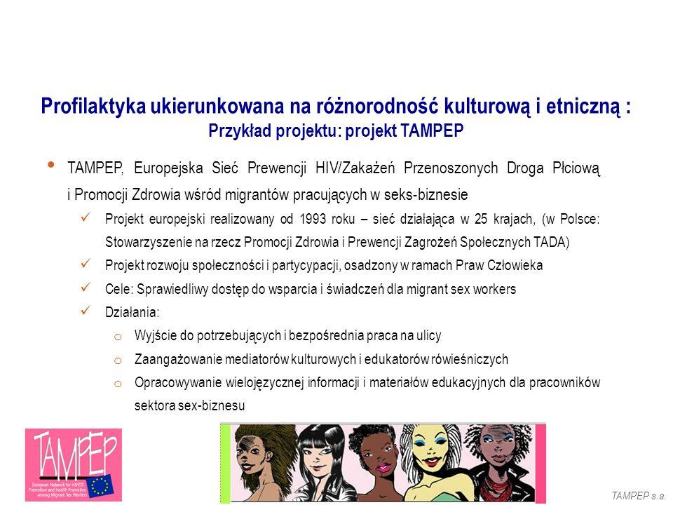 TAMPEP, Europejska Sieć Prewencji HIV/Zakażeń Przenoszonych Droga Płciową i Promocji Zdrowia wśród migrantów pracujących w seks-biznesie Projekt europ