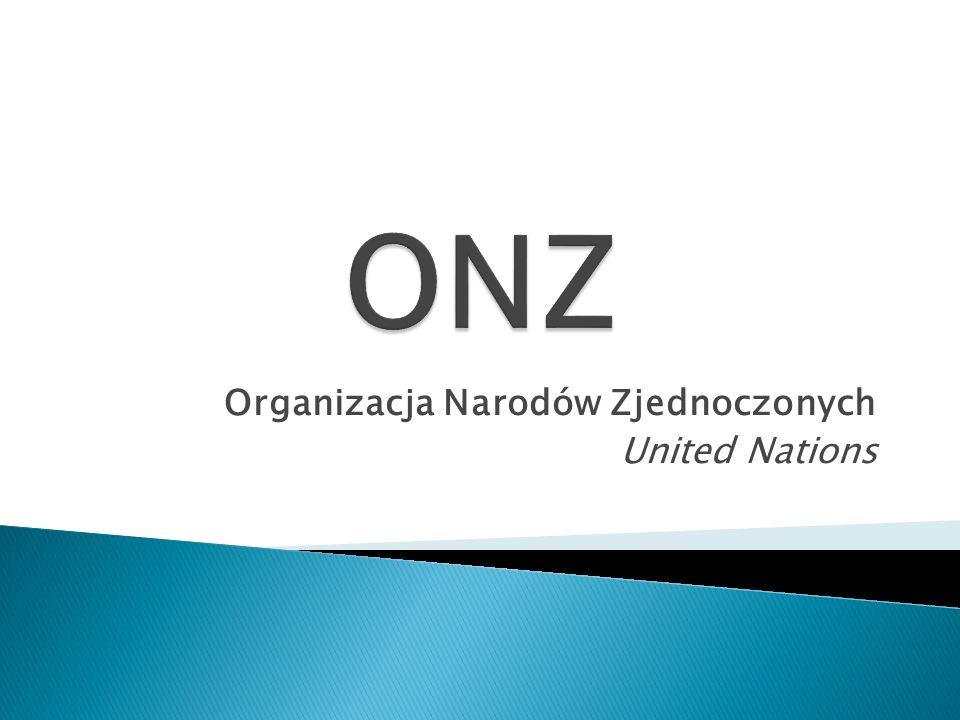 Organizacja Narodów Zjednoczonych United Nations