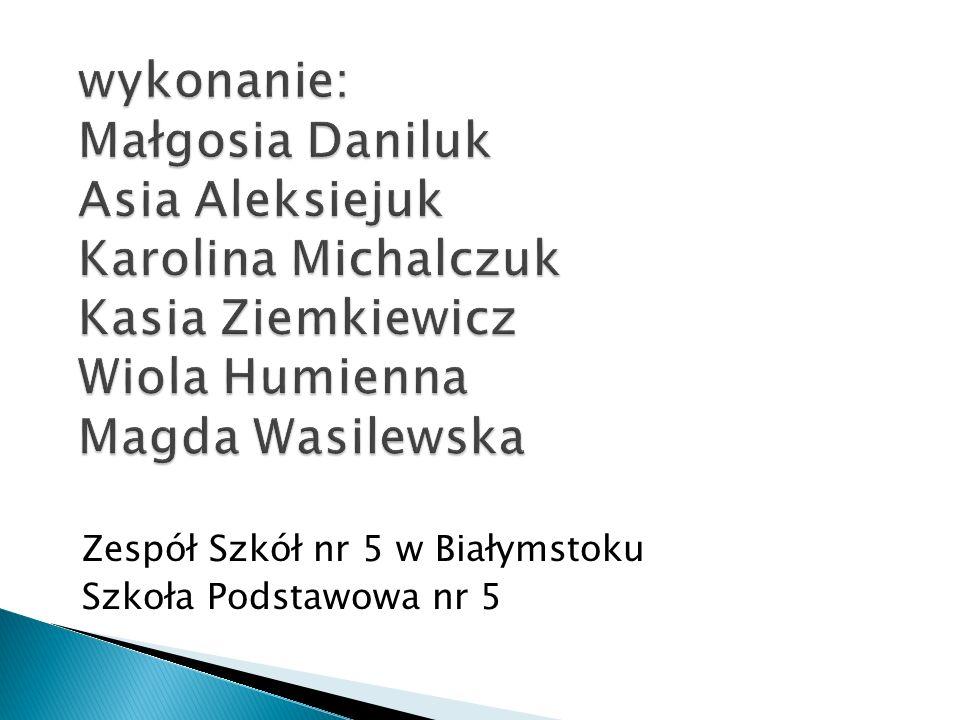 Zespół Szkół nr 5 w Białymstoku Szkoła Podstawowa nr 5