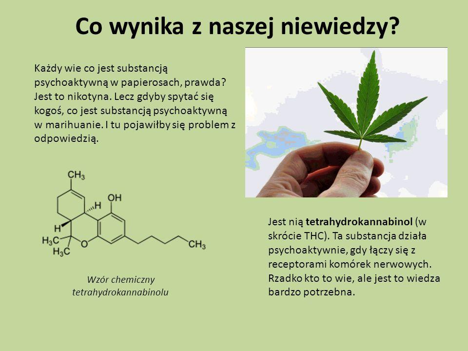 Każdy wie co jest substancją psychoaktywną w papierosach, prawda? Jest to nikotyna. Lecz gdyby spytać się kogoś, co jest substancją psychoaktywną w ma