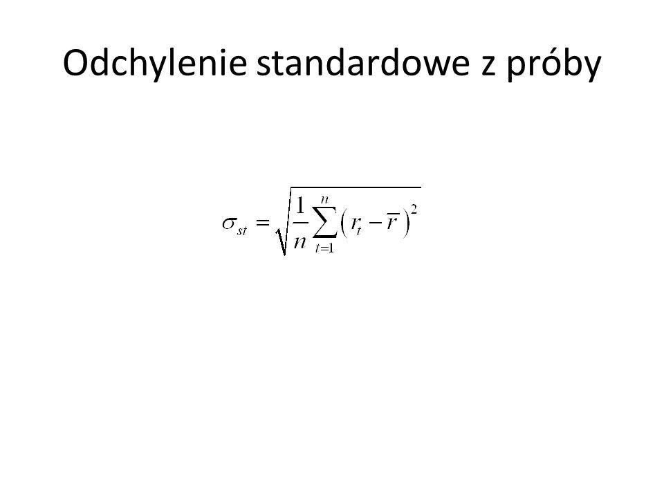 Odchylenie standardowe z próby
