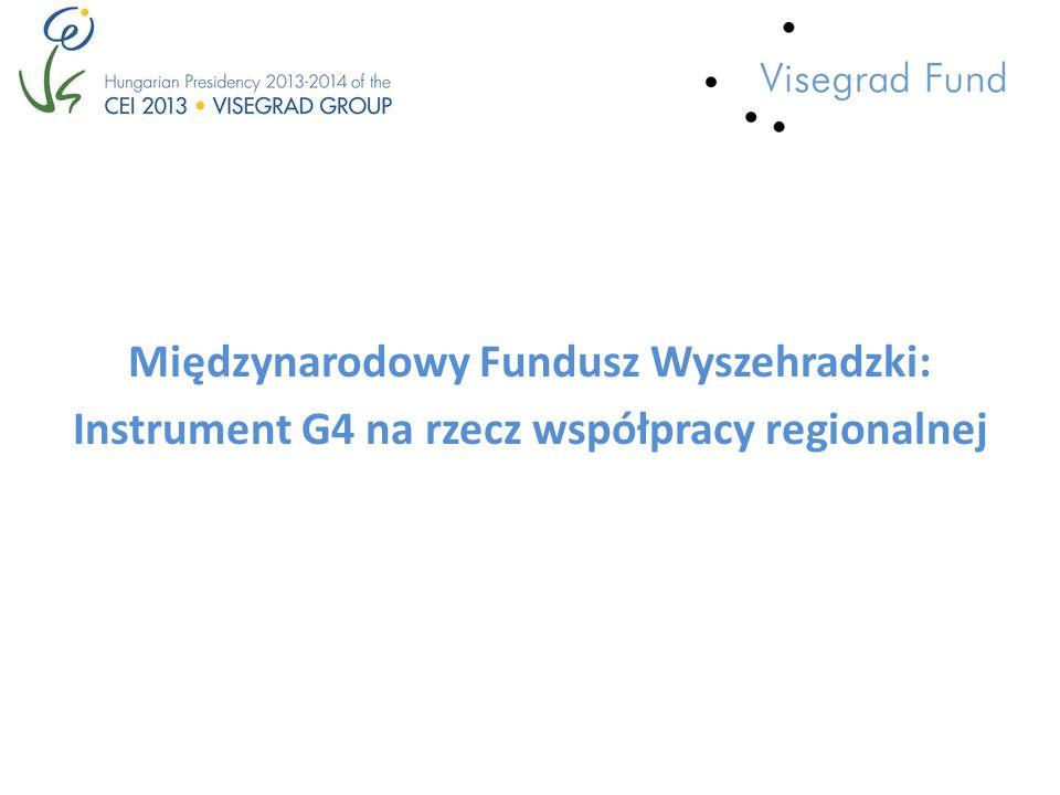 Międzynarodowy Fundusz Wyszehradzki: Instrument G4 na rzecz współpracy regionalnej