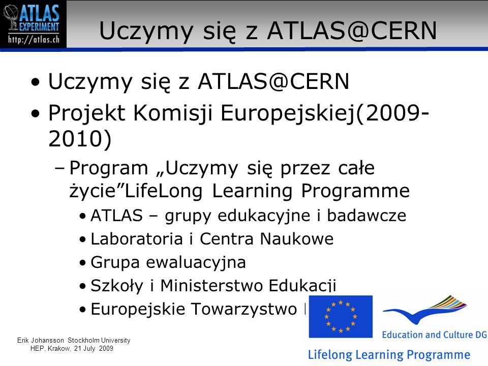 Uczymy się z ATLASem scenariusz I Współczesny, ogromny eksperyment –Pracujemy razem 27 km – akcelerator protonowy w CERN –Akcelerator cząstek –Nadprzewodnictwo Zderzenia cząstek –Co się dzieje w zderzeniu.