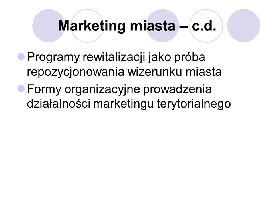Marketing miasta – c.d.