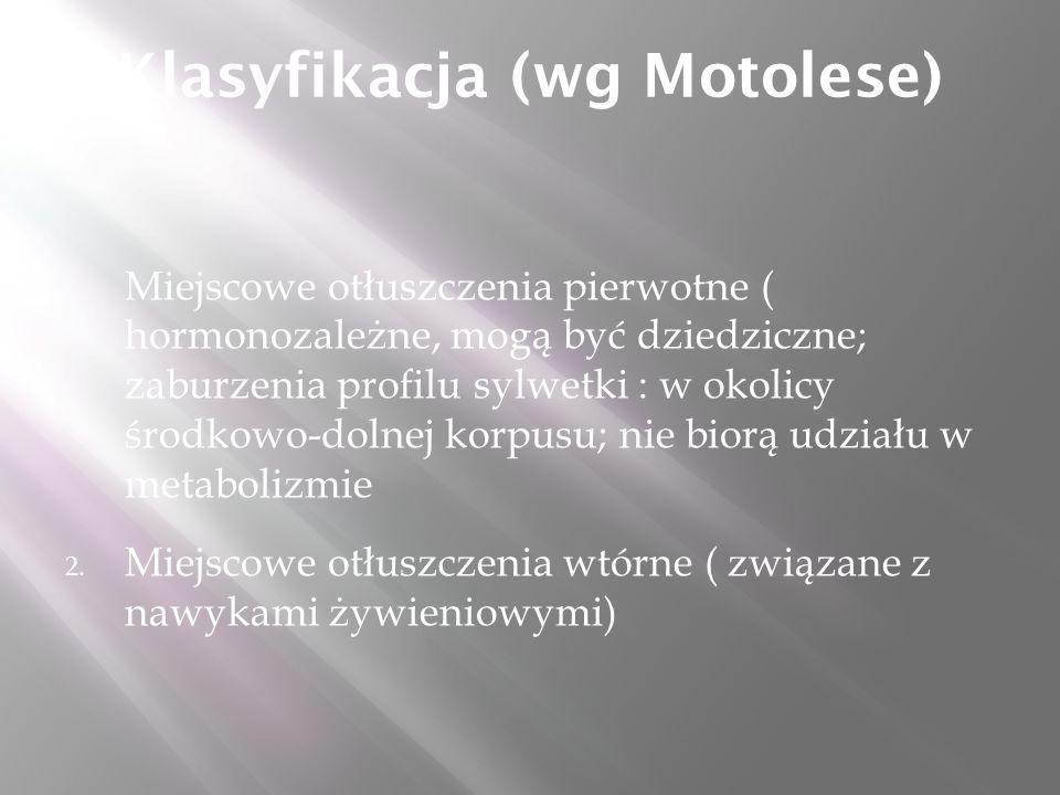 Klasyfikacja (wg Motolese) 1.