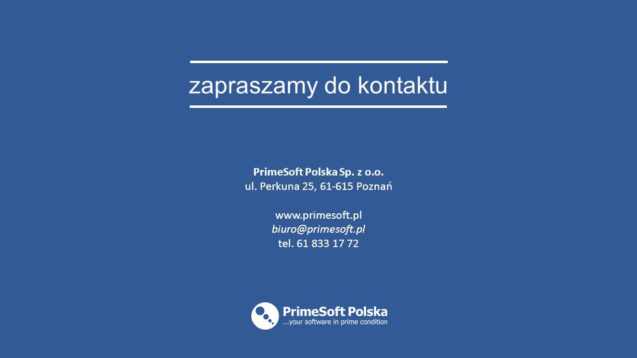 zapraszamy do kontaktu PrimeSoft Polska Sp. z o.o.