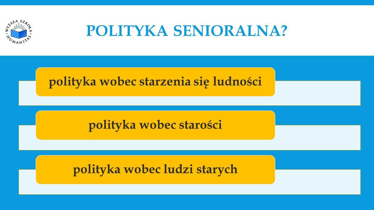 polityka wobec starzenia się ludnościpolityka wobec starościpolityka wobec ludzi starych POLITYKA SENIORALNA