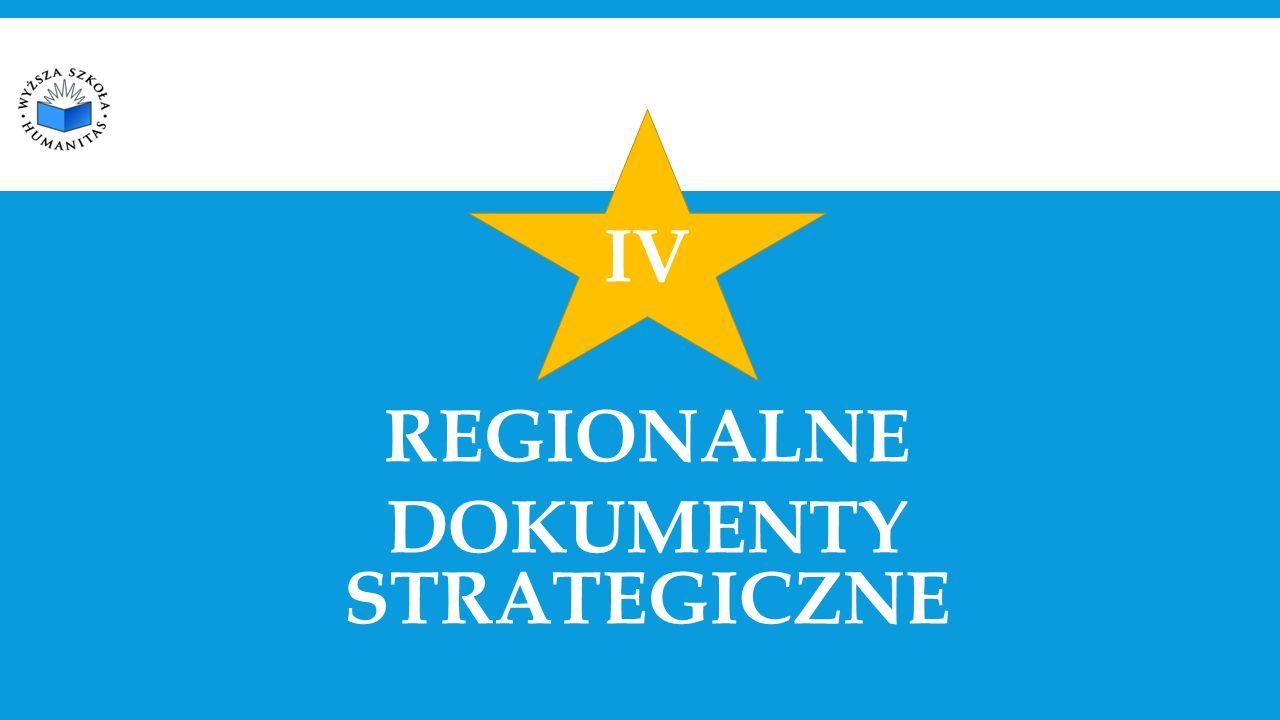 IV REGIONALNE DOKUMENTY STRATEGICZNE
