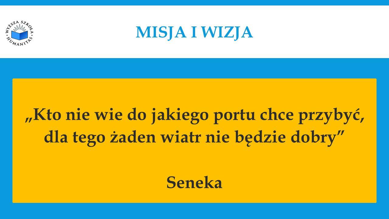 """MISJA I WIZJA """"Kto nie wie do jakiego portu chce przybyć, dla tego żaden wiatr nie będzie dobry Seneka"""