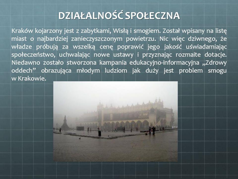 Kraków kojarzony jest z zabytkami, Wisłą i smogiem. Został wpisany na listę miast o najbardziej zanieczyszczonym powietrzu. Nic więc dziwnego, że wład