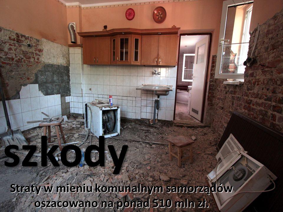 szkody Straty w mieniu komunalnym samorządów oszacowano na ponad 510 mln zł.