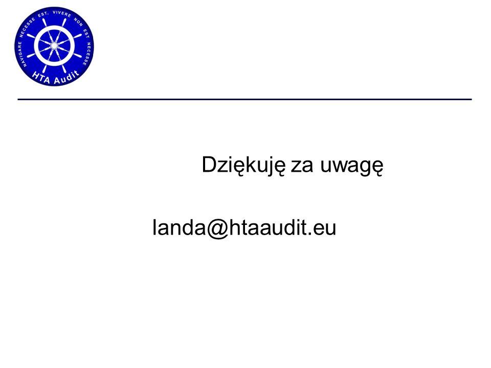 Dziękuję za uwagę landa@htaaudit.eu