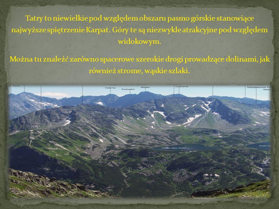 Całe Tatry - zarówno polska, jak i słowacka część objęte są obszarem parku narodowego.