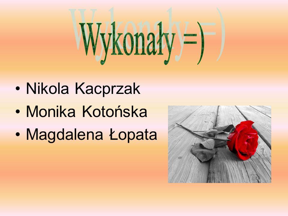 Nikola Kacprzak Monika Kotońska Magdalena Łopata