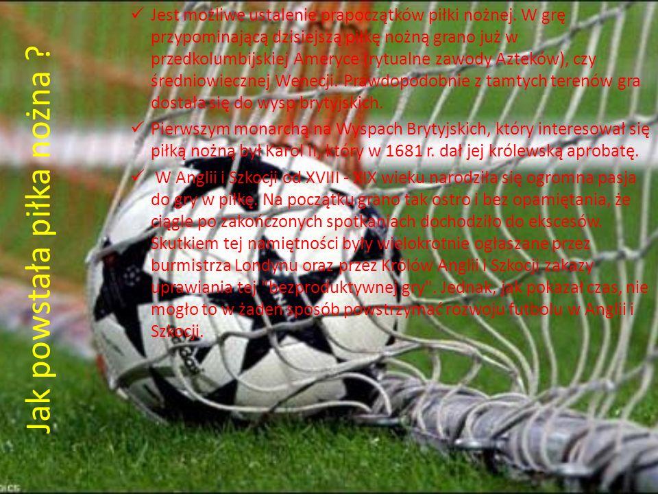 Jak powstała piłka nożna ? Jest możliwe ustalenie prapoczątków piłki nożnej. W grę przypominającą dzisiejszą piłkę nożną grano już w przedkolumbijskie