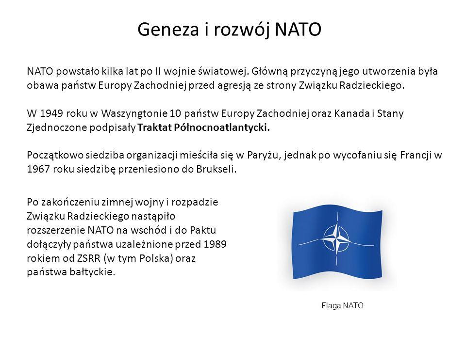 Geneza i rozwój NATO NATO powstało kilka lat po II wojnie światowej.