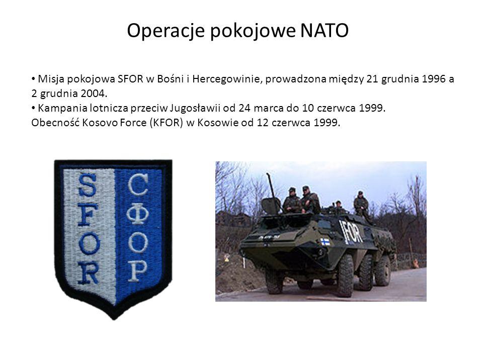Misja pokojowa SFOR w Bośni i Hercegowinie, prowadzona między 21 grudnia 1996 a 2 grudnia 2004.