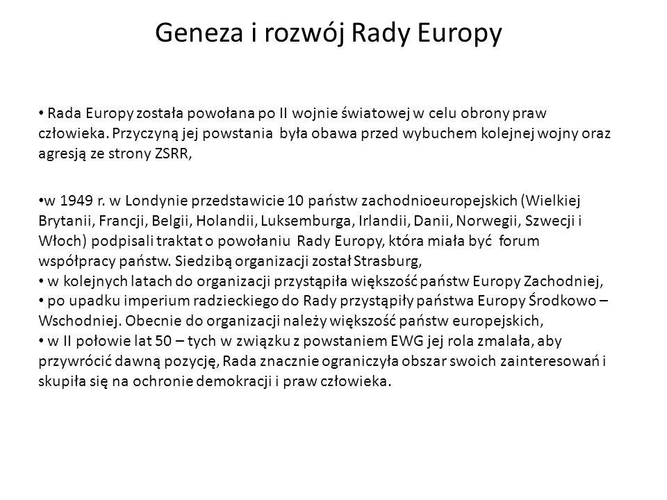 Geneza i rozwój Rady Europy w 1949 r.