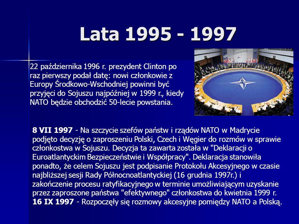 Lata 1995 - 1997 22 października 1996 r.