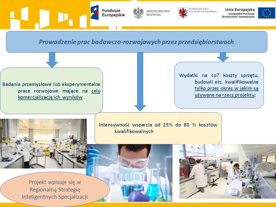 Prowadzenie prac badawczo-rozwojowych przez przedsiębiorstwach Badania przemysłowe lub eksperymentalne prace rozwojowe mające na celu komercjalizację ich wyników Wydatki na co.
