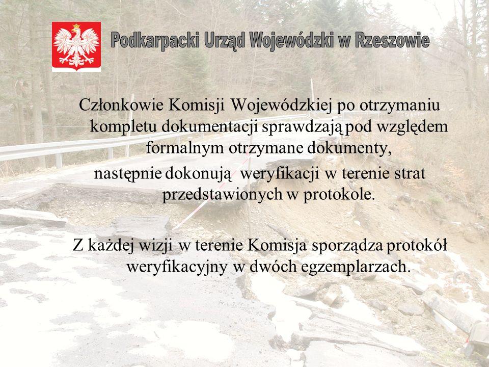 Dot. pkt 2 Województwo podkarpackie Informacja o stratach w infrastrukturze województwa, powiatu lub gminy dotkniętych klęską żywiołową...............