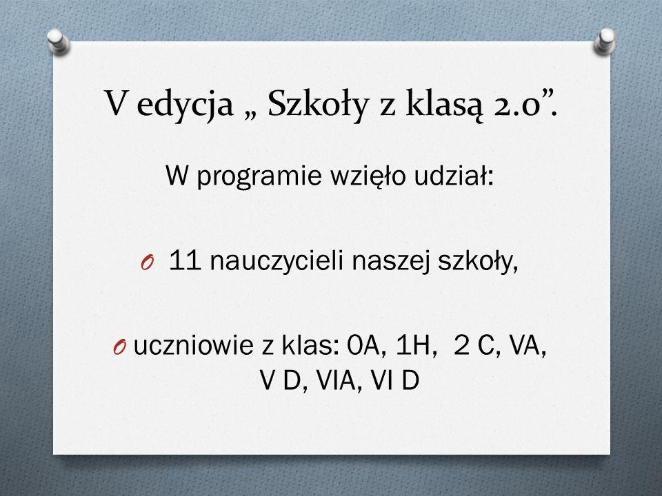 """V edycja """" Szkoły z klasą 2.0 ."""