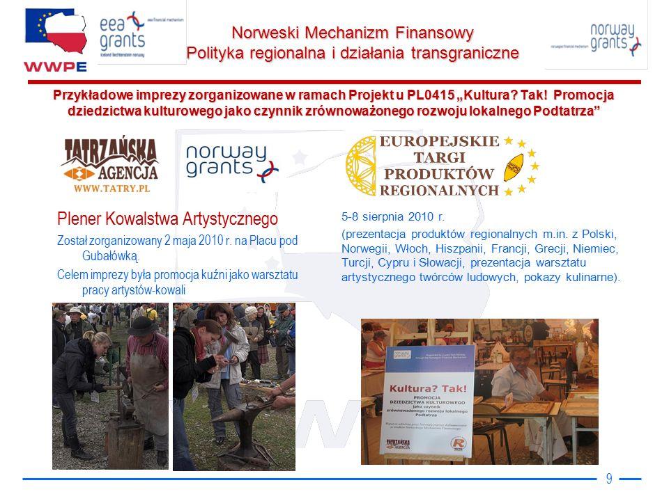 """Norweski Mechanizm Finansowy Polityka regionalna i działania transgraniczne Przykładowe imprezy zorganizowane w ramach Projekt u PL0415 """"Kultura."""