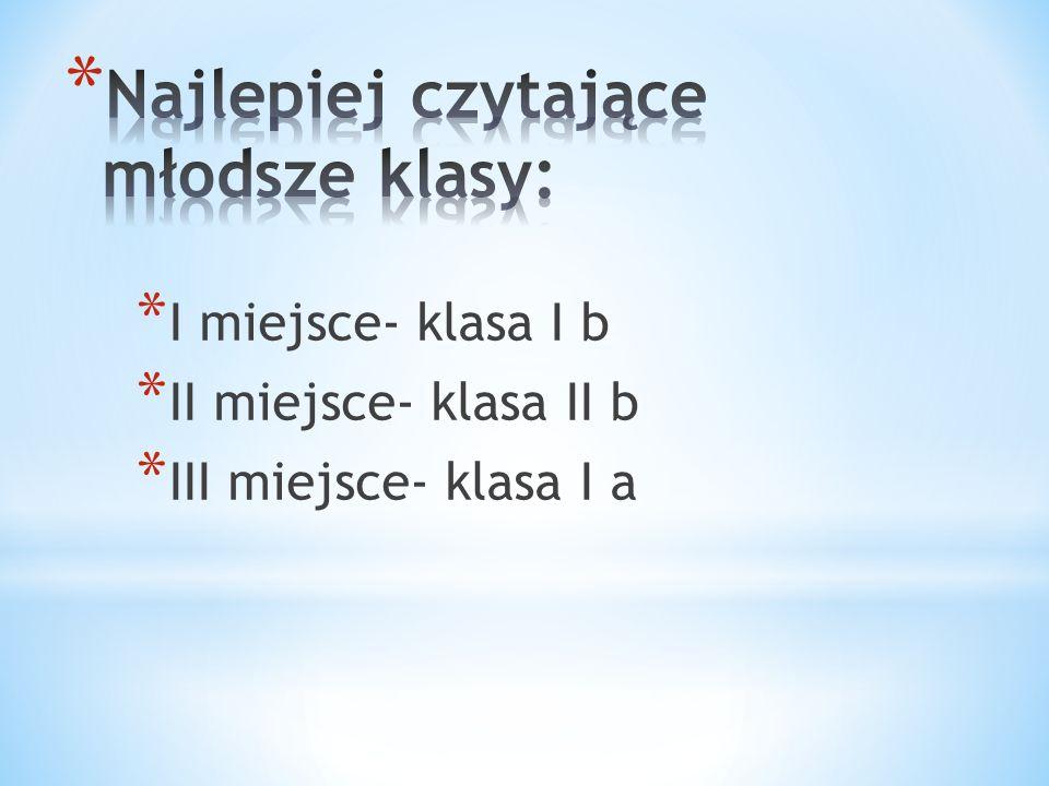 * I miejsce- klasa I b * II miejsce- klasa II b * III miejsce- klasa I a