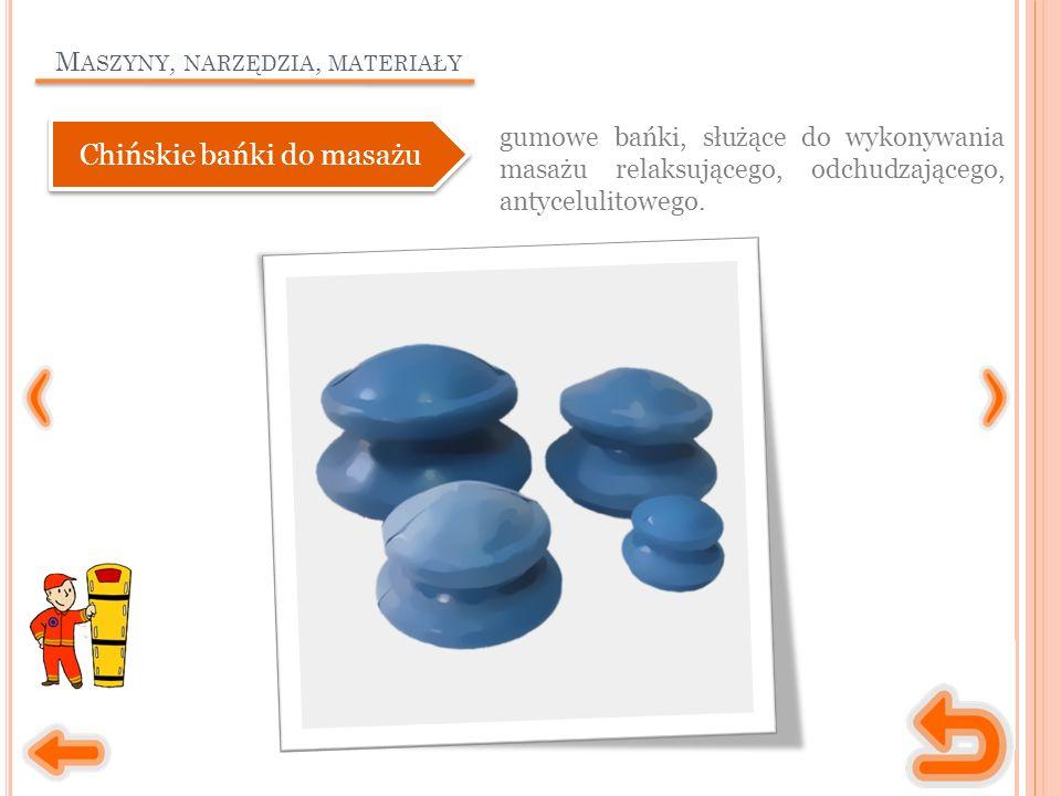 M ASZYNY, NARZĘDZIA, MATERIAŁY gumowe bańki, służące do wykonywania masażu relaksującego, odchudzającego, antycelulitowego. Chińskie bańki do masażu