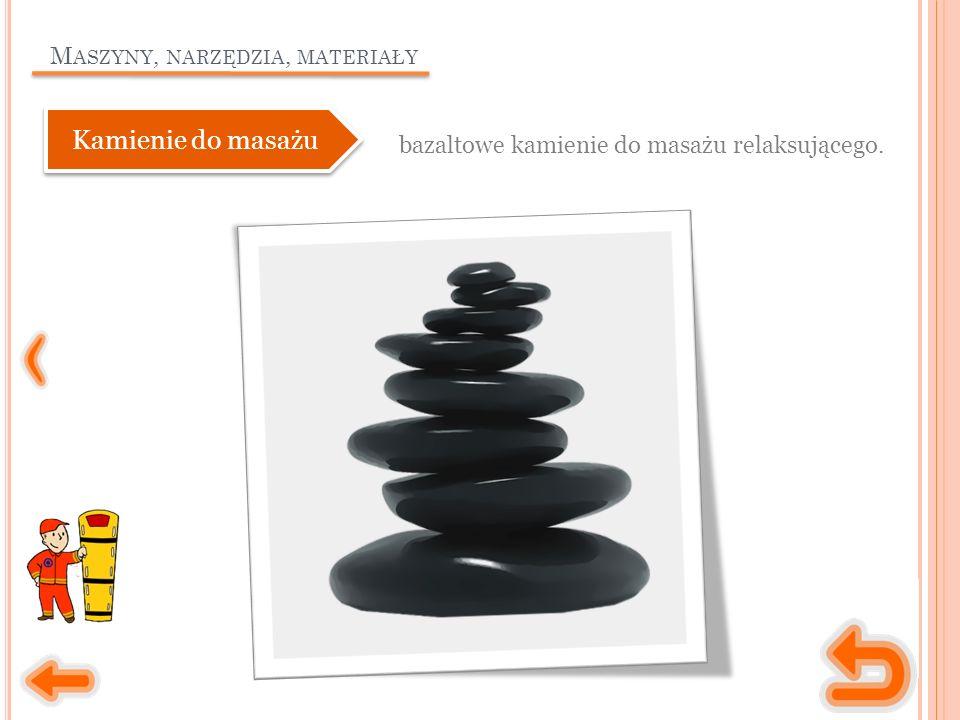 M ASZYNY, NARZĘDZIA, MATERIAŁY bazaltowe kamienie do masażu relaksującego. Kamienie do masażu