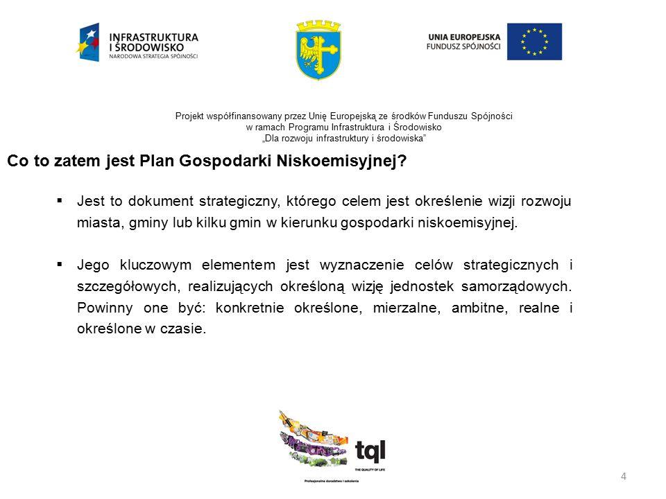 """5 Projekt współfinansowany przez Unię Europejską ze środków Funduszu Spójności w ramach Programu Infrastruktura i Środowisko """"Dla rozwoju infrastruktury i środowiska Jak się przygotować do wdrożenia Planu Gospodarki Niskoemisyjnej  Formalne rozpoczęcie pracy nad Planem – uchwała Rady;  Adaptacja samorządowych struktur administracyjnych;  Identyfikacja i budowanie wsparcia interesariuszy;  Ocena aktualnego stanu;  Ustalenie wizji Miasta, Gminy…;  Ustalenie misji dla planu… (po co?);"""