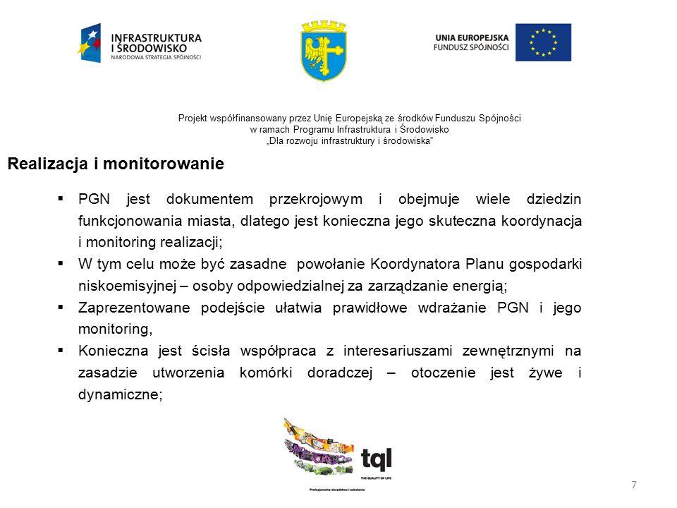 """7 Projekt współfinansowany przez Unię Europejską ze środków Funduszu Spójności w ramach Programu Infrastruktura i Środowisko """"Dla rozwoju infrastruktu"""
