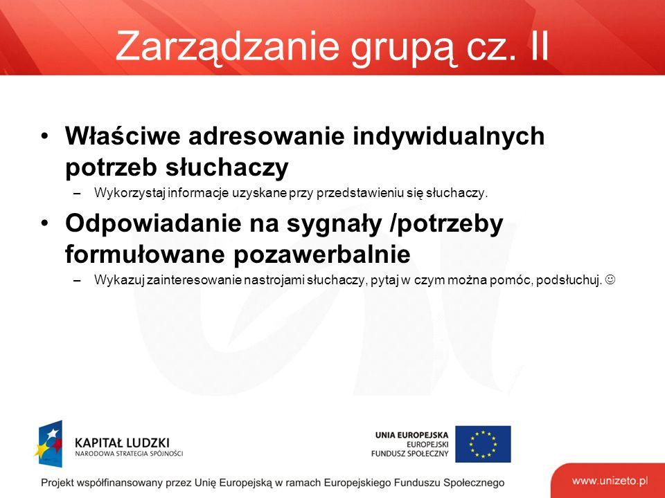 Zarządzanie grupą cz.