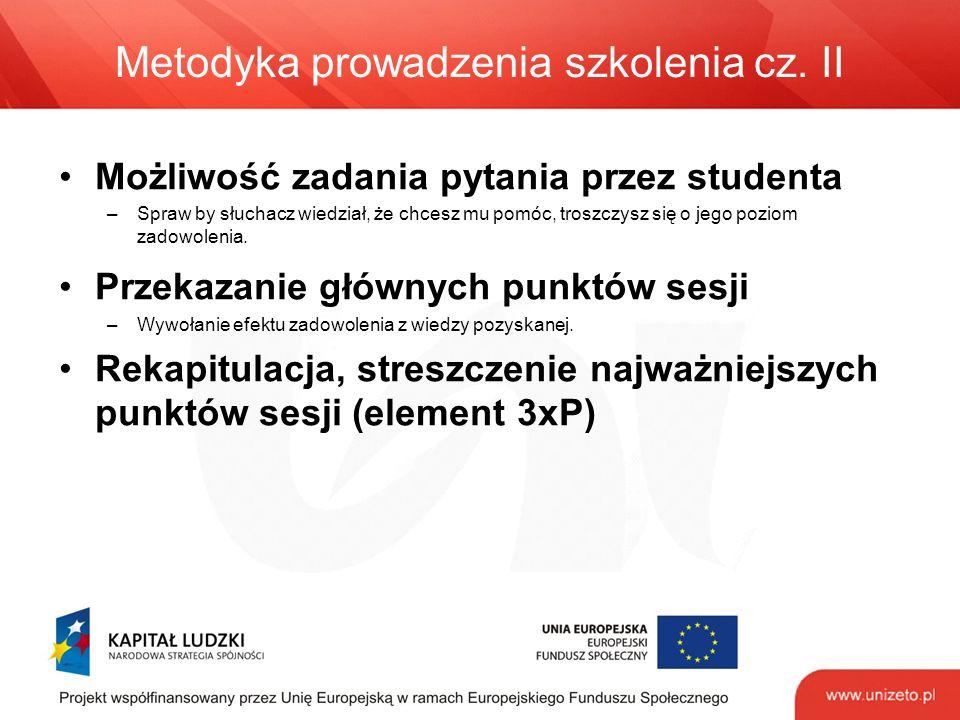 Metodyka prowadzenia szkolenia cz.
