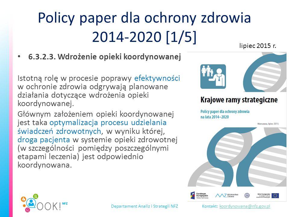 Departament Analiz i Strategii NFZKontakt: koordynowana@nfz.gov.plkoordynowana@nfz.gov.pl Włączenie organizacji związanych z interesem pacjenta spotkanie 23 lutego 2016 r.