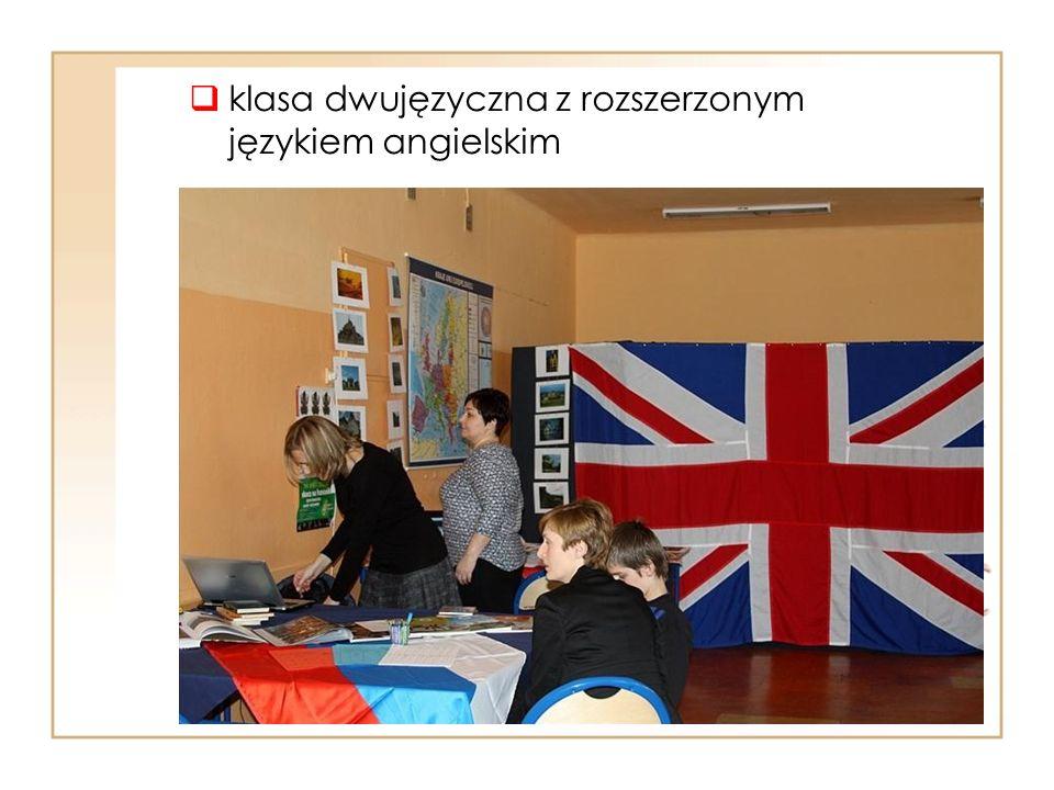  klasa dwujęzyczna z rozszerzonym językiem angielskim