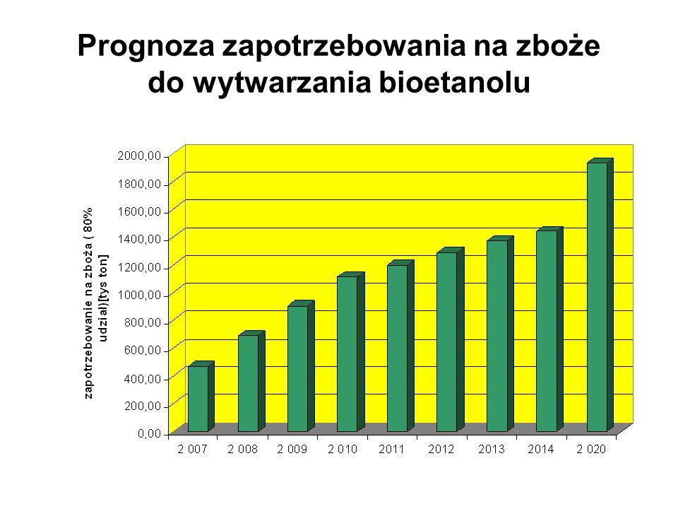 Warszawa - 2008-02-2210 Prognoza zapotrzebowania na zboże do wytwarzania bioetanolu