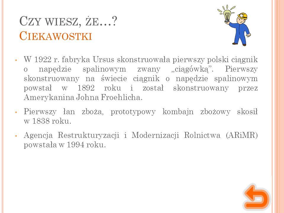 C ZY WIESZ, ŻE …. C IEKAWOSTKI W 1922 r.