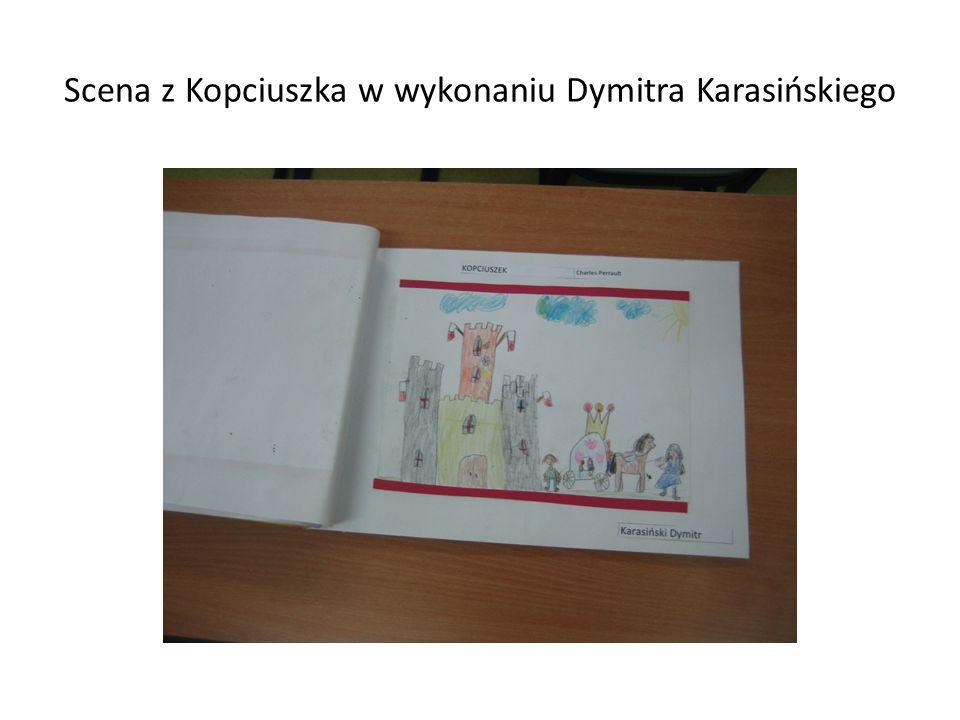 Scena z Kopciuszka w wykonaniu Dymitra Karasińskiego