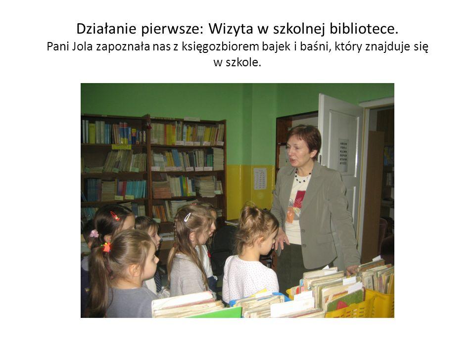 Działanie pierwsze: Wizyta w szkolnej bibliotece.