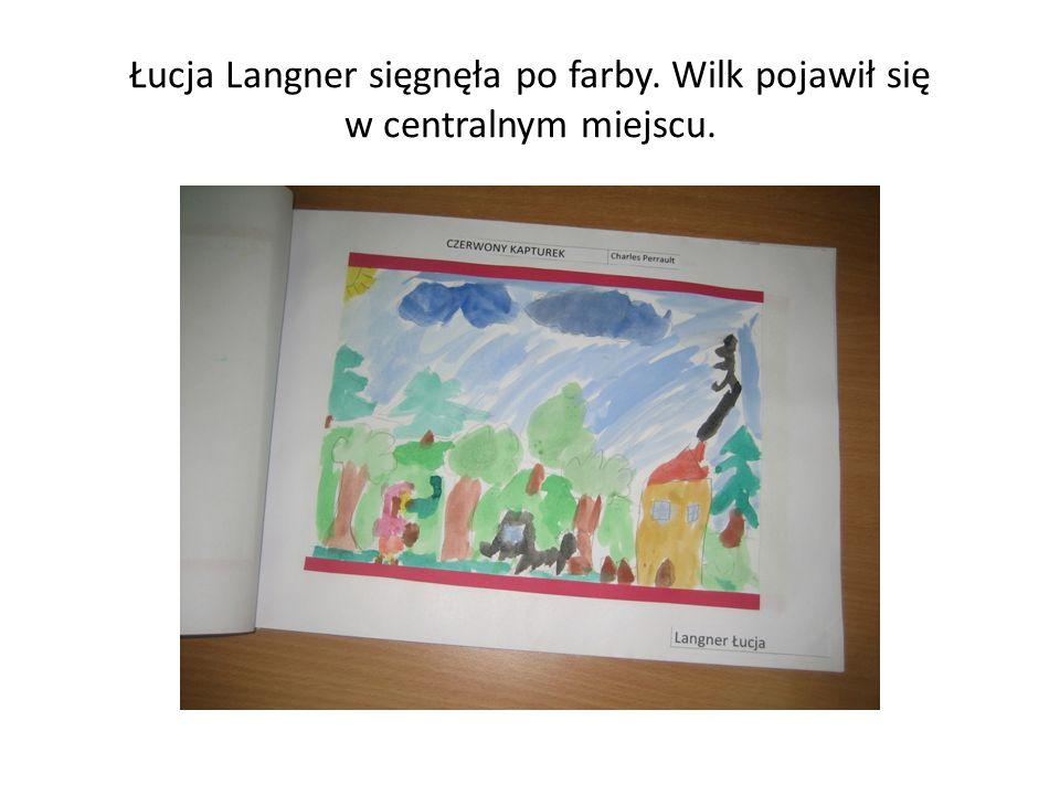 Łucja Langner sięgnęła po farby. Wilk pojawił się w centralnym miejscu.