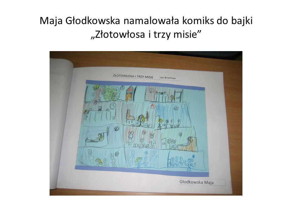 """Maja Głodkowska namalowała komiks do bajki """"Złotowłosa i trzy misie"""