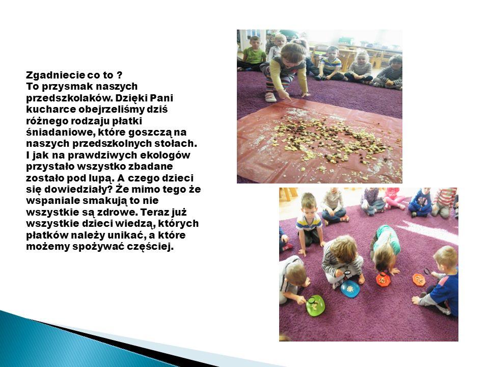 Na kolejnych zajęciach dzieci poznały kolejny produkt wykonany z mąki.