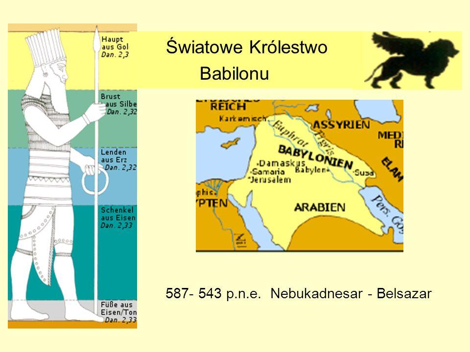 Światowe Królestwo Babilonu 587- 543 p.n.e. Nebukadnesar - Belsazar
