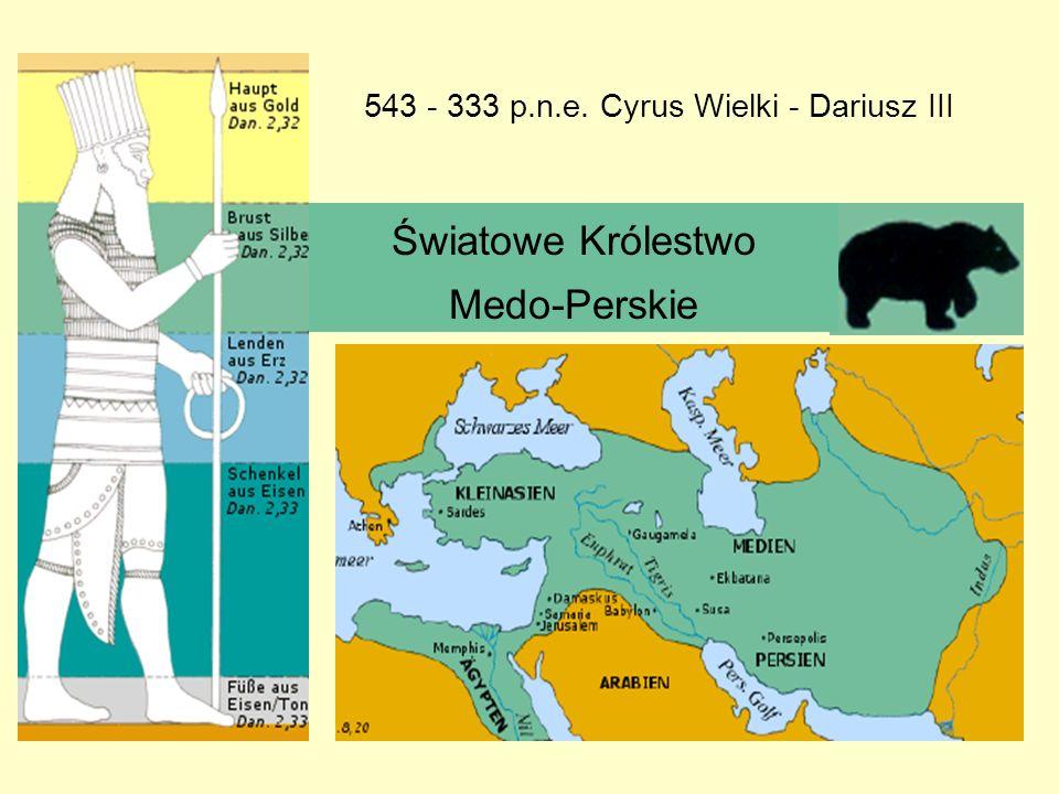 Światowe Królestwo Medo-Perskie 543 - 333 p.n.e. Cyrus Wielki - Dariusz III