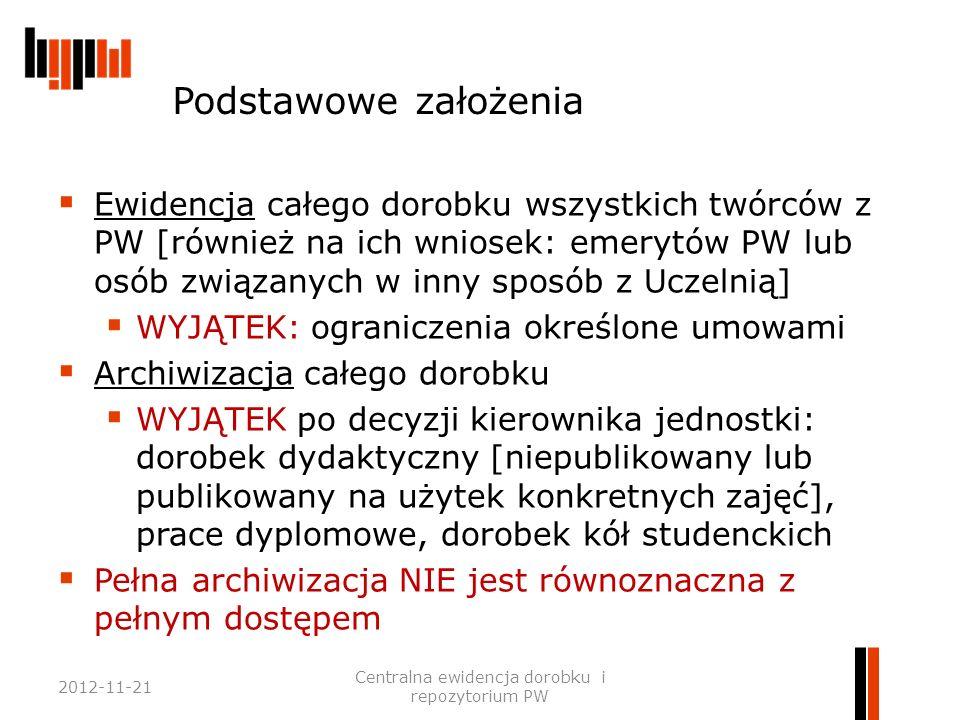 Dorobek / utwór podlegający ewidencji  Dorobek – utwory w rozumienia prawa autorskiego, a także wyrażone w formie np.