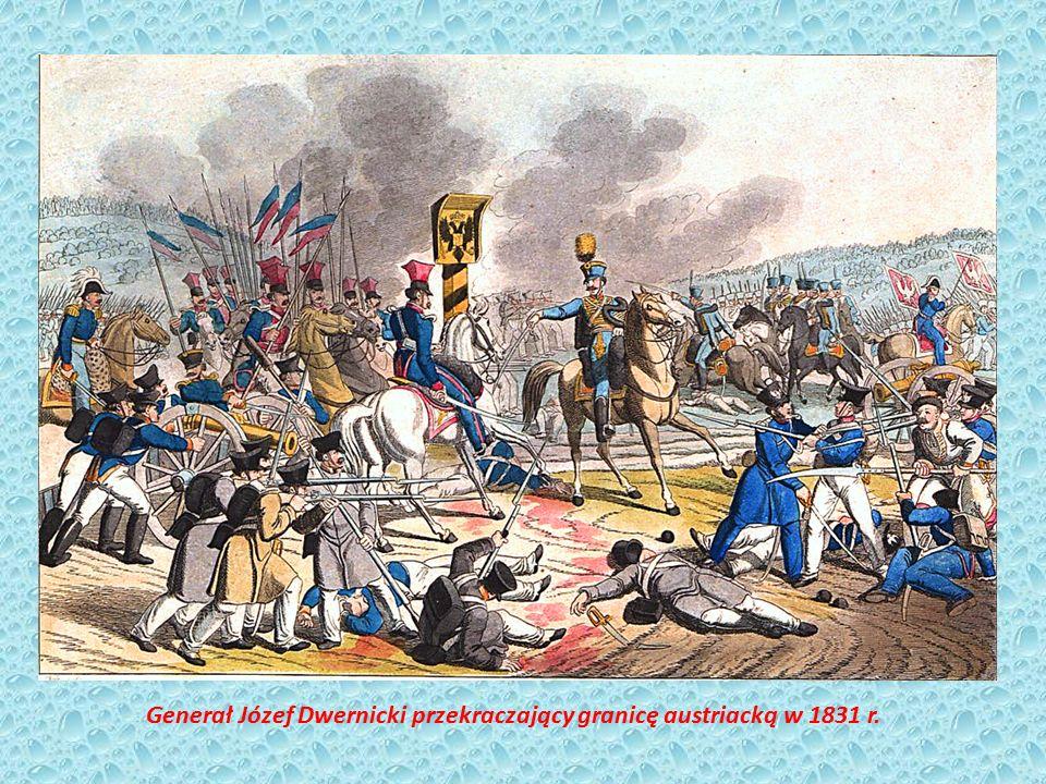 Generał Józef Dwernicki przekraczający granicę austriacką w 1831 r.
