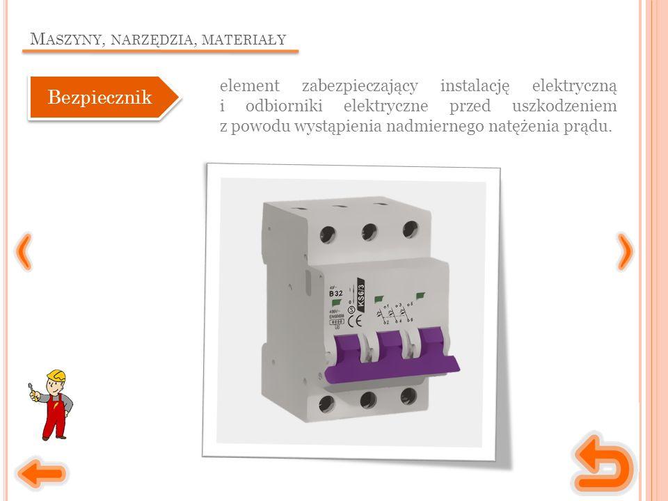M ASZYNY, NARZĘDZIA, MATERIAŁY urządzenie służące do mierzenia napięcia i natężenia prądu elektrycznego.