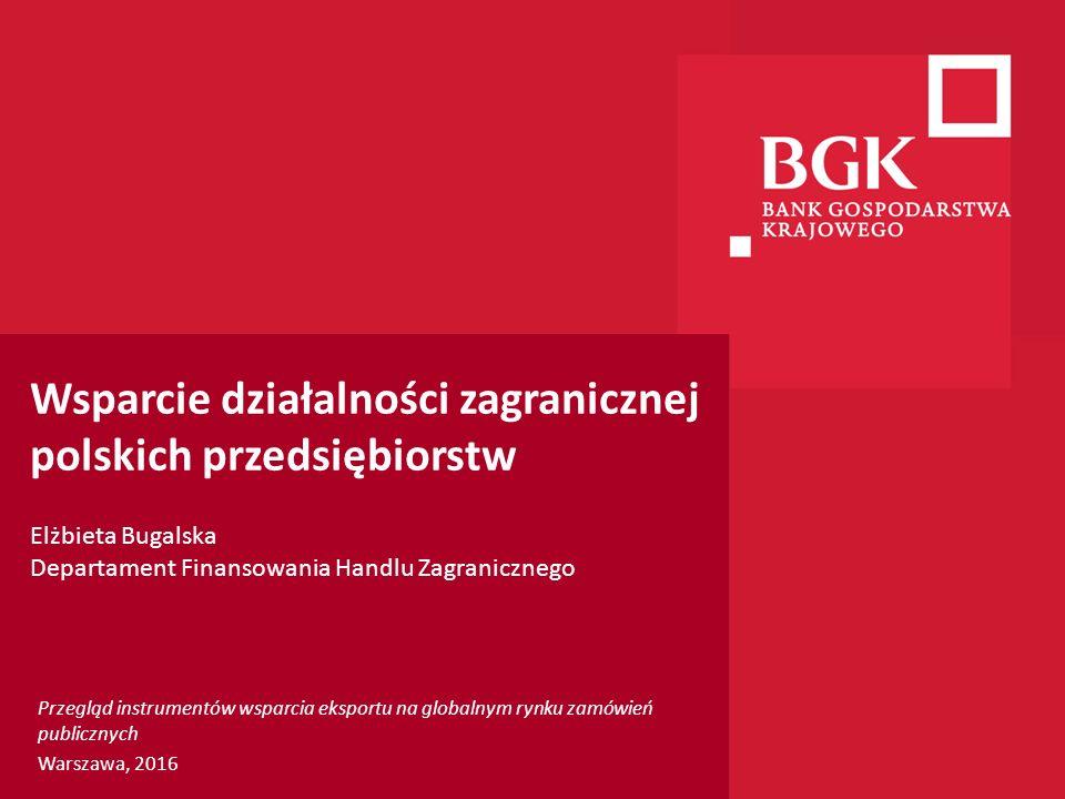 204/204/204 218/32/56 118/126/132 183/32/51 227/30/54 Wsparcie działalności zagranicznej polskich przedsiębiorstw Elżbieta Bugalska Departament Finans