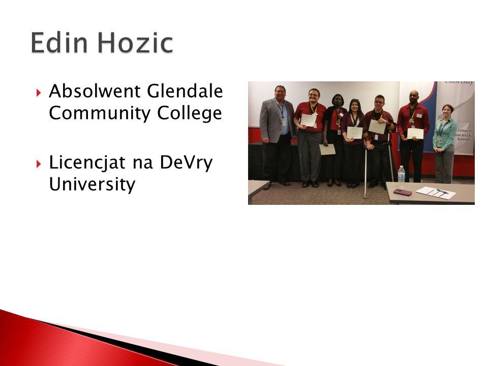  Absolwent Glendale Community College  Licencjat na DeVry University